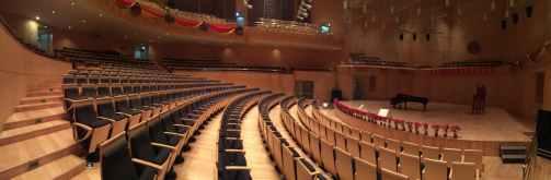 architecture auditorium building chairs